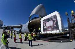 Alpha Magnetic Spectrometer arrives at launch site