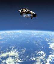A picture released by the European Space Agency (ESA) shows an artist impression of the CyroSat satellite