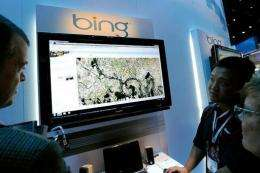 Bing's share of the US search market rose to 11.8 percent in April from 11.7 percent in March