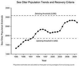 California sea otter numbers drop again