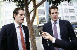 Cameron (L) and Tyler (R) Winklevoss