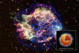 Chandra finds superfluid in neutron star's core