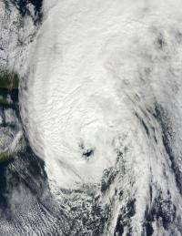 Huge post-tropical Hurricane Igor drenched Newfoundland, Canada