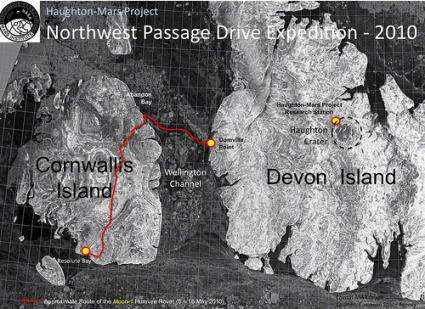 Mars Institute 'Moon-1' Humvee Rover reaches Devon Island, High Arctic
