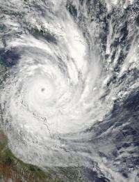 NASA Aqua Satellite sees powerful Cyclone Yasi make landfall in Queensland, Australia