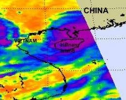 NASA infrared imagery shows Chanthu weakening after landfall in southeastern China