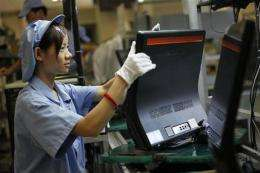 PC maker Lenovo's quarterly profit up 45 percent (AP)
