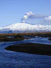Smoke and ash billow from the Eyjafjallajokull volcano