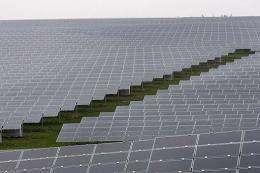 Solar modules stand in Hasborn