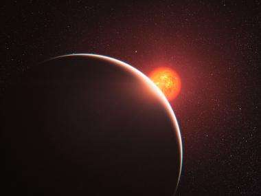 Super-Earth has an atmosphere, but is it steamy or gassy?