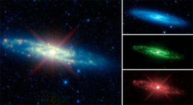 The many infrared 'personalities' of the Sculptor galaxy
