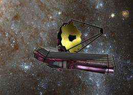 This NASA artist's rendition received in 2007 shows the James Webb Space Telescope