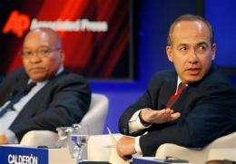 UN climate talks in focus at Davos forum (AP)