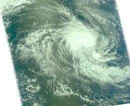NASA's Aqua Satellite sees a tight Tropical Storm 21S