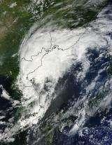 NASA satellite sees Tropical Storm Kompasu transitioning over Korea and China