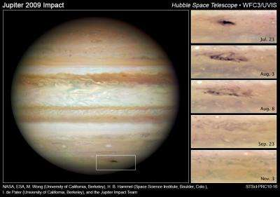 Hubble Images Suggest Rogue Asteroid Smacked Jupiter