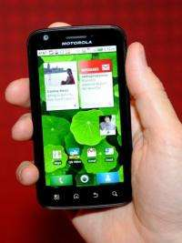 Motorola Mobility's Atrix 4G smartphone can be hooked up to a laptop for web browsing