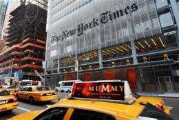 New York Times to ask Web readers to pay up in '11 (AP)