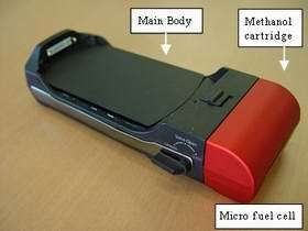 Prototype Micro Fuel Cell for 3G FOMA Handsets