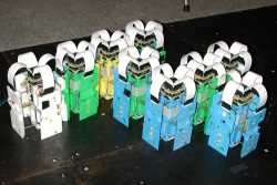 nine crystal robots