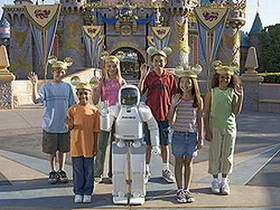 Mickey Welcomes ASIMO To Disneyland's 50th Anniversary