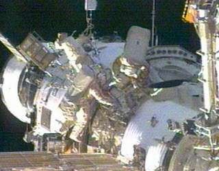 ISS crew begins spacewalk spacewalk, station unmanned