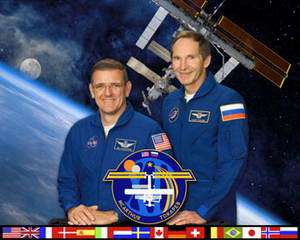 From left are Expedition 12 Commander William McArthur and Expedition 12 Flight Engineer Valery Tokarev. Photo Credit: NASA