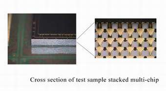 Cross secition of test sample