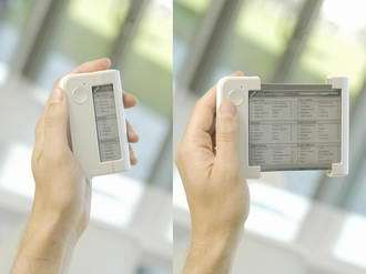 Philips unveils world's first 'Rollable Display' pocket e-Reader concept READIUS 1