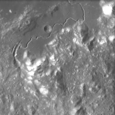 Hadley Rille on the Moon, seen by SMART-1 (Copyright ESA)