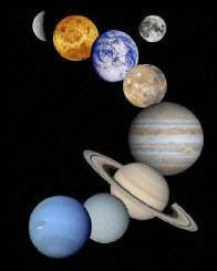 NASA montage of planets