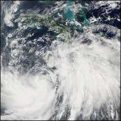 NASA satellite image shows Hurricane Wilma