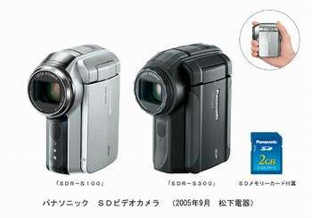 Panasonic Unveils World's First SD Memory Card Based 3-CCD Digital Video Cameras
