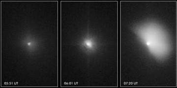 Hubble captures Deep Impact's collision