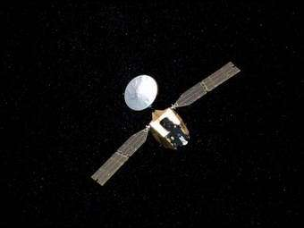 Artist's concept of Mars Reconnaissance Orbiter en route to Mars. Image credit: NASA/JPL