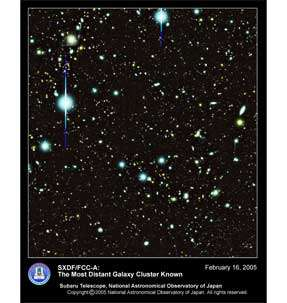 The most distant galaxy claster known