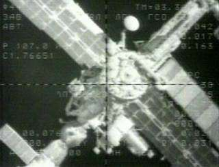 Arriving Progress moments before docking to the Zvezda
