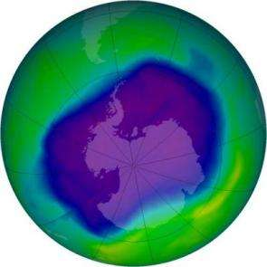 Antarctic ozone hole is a double record breaker