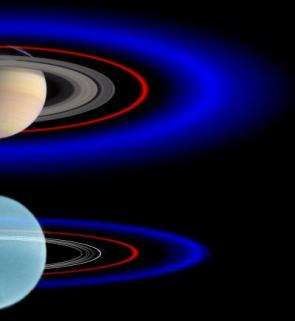 Blue ring discovered around Uranus