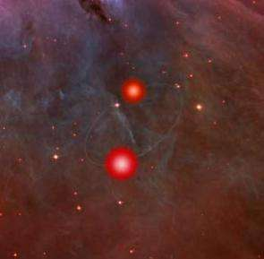 A binary brown dwarf system found in the Orion Nebula...