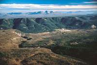 The rim of the Yellowstone Caldera