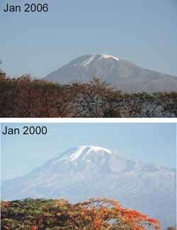 Snows Of Kilimanjaro Disappearing