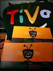 TiVo boxes on display