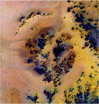 Largest crater discovered in Sahara