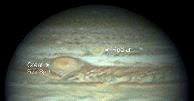 Jupiter's two red spots