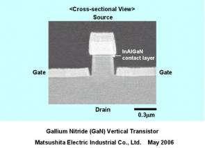 Panasonic Develops the World's First GaN Vertical Transistor