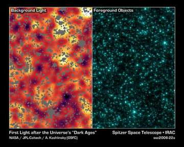 Spitzer Picks Up Glow of Universe's First Objects