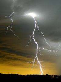 Lightning, photographed by William Biscorner of Memphis, Michigan.