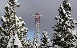 Instruments on a tower at NSF's Niwot Ridge LTER site in Colo. measure carbon dioxide.
