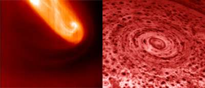 Saturn joins Venus in the vortex club